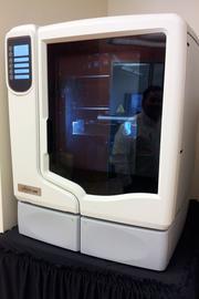 This Stratasys 3-D printer can create professional-grade 3-D models.