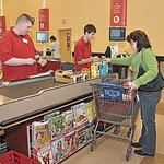 Kissing the 'Q' checkout line goodbye at most Hannaford stores