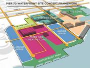 A site concept plan for the Pier 70 development.