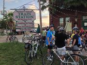 St. Petersburg Mayor Rick Kriseman mingles with the crowd on Bike to Work Day.