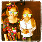 Kids show off their new specs at Cerner Corp.