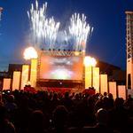 Fireworks, 3-D film part of Falcons stadium groundbreaking (SLIDESHOW)