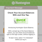 Huntington execs say bank ahead of the curve with 'Quick Balance' mobile app upgrade