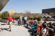 Burns & McDonnell puts on a special show for kids Thursday that included science-geared activities.