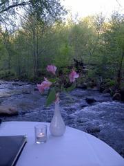 A table at L'Auberge Restaurant on Oak Creek