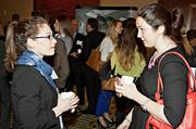 Allie Sneider of Daley & Associates with Christina Donovan of Prince Lobel at the social hour preceding the BBJ Pacesetters 2013 Select 70 awards.