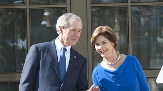 George w and laura bush phrase