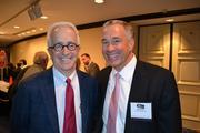 Alex Orfinger, publisher of the Washington Business Journal, left, with Jim Davis of Davis Construction.