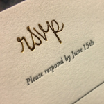 Shed Letterpress says foil stamping is this season's wedding trend