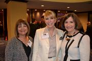 From left, Bari Nichols of Lincoln Property Co., Barbara McDuffie of Baker Tilly,and Elizabeth Karmin, president of CREW DC.