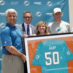 Miami Dolphins to help AARP Foundation