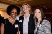 From left: Costa Communications employees Wendy Gustama, Doreen Overstreet and Danielle Jimenez