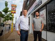 William Liebermann and Jason Deem on Cherokee Street.