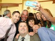 Forty Under 40 honoree Brian Wilson had his friends and family gather around for a selfie at Thursday's night event.