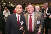 John Kim, left, and Steve Rubin, both of Harkins Builders.