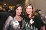 Stacy Purdy of First Potomac Realty Trust, left, with Jennifer Parker of CBRE.