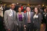 From left, Charles King and Simone Goring Devaney, both of CSG Urban Partners, with Matthew Haas of Clark Construction Group and Jessica Wolford of Trammell Crow Co.