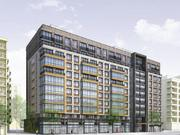 Rendering of 1401 U, a market rate apartment building that will partly replace the Section 8 Portner Place apartments, from Somerset Development and Jonathan Rose.
