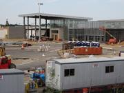 The main entrance to the redeveloped Springfield Mall, now called the Springfield Town Center, as of June 2, 2014. The entrance fronts Loisdale Road, between JC Penney and the future LA Fitness. The mall is scheduled to reopen in mid-October.