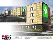 RBX Media plans to install an 18-by-31-foot electronic display on the east facade of the 122-room Fairfield Inn at Port Columbus.