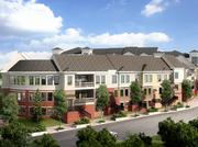 An artist's rendering of the townhouse apartment units that will be part of the 335-unit Creekside at Crabtree multifamily project planned south of Crabtree Valley Mall.