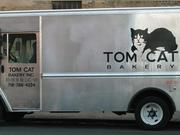 Tom Cat delivery truck, ubiquitous in New York City.