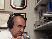 Dr. Elmer Huerta shown speaking on his radio call-in show geared toward addressing health topics with the Hispanic community in Washington. Huerta is the director of Cancer Preventorium at MedStar Washington Hospital Center. He's also the former president of the D.C. United soccer fan club and will be rooting for the U.S. and Argentina in the World Cup this year.