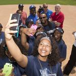 Brewers stars help launch Boys & Girls Club field in Sherman Park: Slideshow