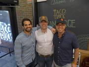 Greg Vasey, center, operating partner of The Taco Truck, with partners Jason Scott and Chris Viola.