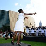 Center for Civil and Human Rights opens (SLIDESHOW) (Video)