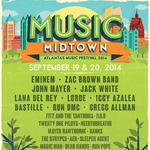 Music Midtown 2014 headliners: Eminem, the Zac Brown Band, <strong>Jack</strong> <strong>White</strong>, John Mayer