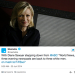 Viewers take to Twitter to lament <strong>Diane</strong> <strong>Sawyer</strong>'s latest career move