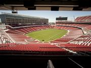 The view from Jed York's suite