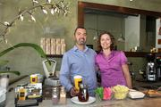 Raphael and Sarah Perrier at one of Kahwa Coffee's St. Petersburg locations.