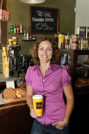 Sarah Perrier at one of Kahwa Coffee's St. Petersburg locations.