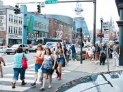 What Lower Broadway looked like during a previous CMA Fest.
