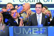 "Mariner Kemper (right), R. Crosby Kemper Jr.'s son and chairman of UMB Financial ""For me, he was a man who believed deeply in serving the community and being a steward of the community's money. He knew the importance of being a steward and the importance of giving back when you're successful. He's left that with me, for sure."""
