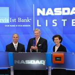 What did ServisFirst's Broughton say before ringing the closing bell on Wall Street?