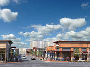 What the retail along the Main Street Town Center will look like.