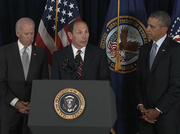 Former Procter & Gamble Co. CEO Bob McDonald accepts President Barack Obama's nomination to serve as Secretary of Veterans Affairs on Monday.