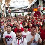 Fourth Street Live turns festive as U of L fans celebrate ACC entry