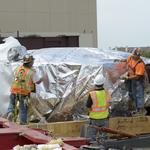 220-ton cancer fighter rolls into its new Irving home