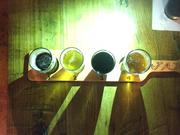 A flight of craft beer at Sea Jax Tavern.