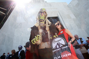 The Oregon Media and Production Association's Sibyl Lazzara spent time in Salem with the zombie judge from 'ParaNorman' trying to scare up support for additional film industry incentives.