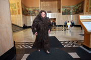A big foot character tried to scare lawmakers straight. Actor Ira Kortum is in the suit, and makeup was done by Ravenous Studios of Portland.