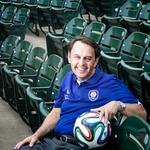 Meeting the goal — Wayne Estopinal is as intense as the game he loves