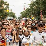 Thousands of World Cup fans block South Street for raucous viewing party (Video)