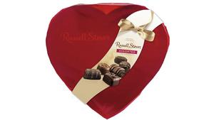 Russell Stover's heart-shaped gift box