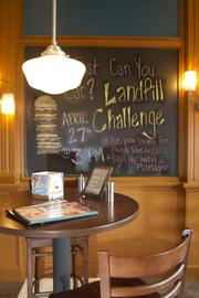 The Landfill Challenge is an offer of a free T-shirt and gift card to anyone who can finish a four-pound cheeseburger.