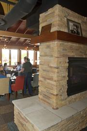Fireplaces have been added to make restaurants warmer, both temperature-wise and atmospherically.